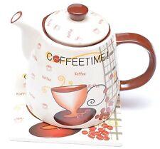 Kanne Kaffeekanne Keramik Sigro Coffeetime Kaffee Teekanne