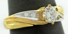 GENUINE 0.32 Cts DIAMOND ENGAGEMENT RING 14K GOLD * NWT * Free Appraisal *