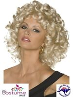 Ladies Grease Sandy Last Scene Wig Blonde 50s 60s Disco Costume Accessory