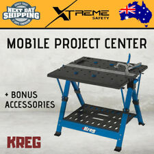 New KREG Foldable Mobile Project Center Workspace Workbench + Bonus Accessories