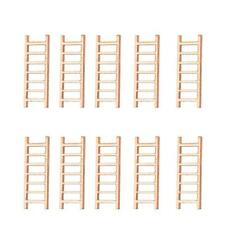 10pcs Wood Crafts Micro Landscape DIY Ladder Fairy Garden Miniatures Decor