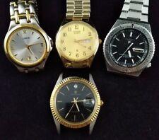 4 Vintage 80's 90's Quartz JB Champion Citizen Pulsar Mens Watch Lot All Working