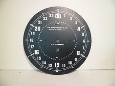 NOS 8 1/2 Inch  Elm Manufacturing 24 Hour Zulu Clock Dial Military US Goverment