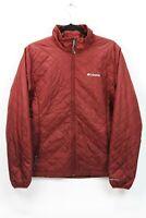 Columbia Womens Large Red Omni Heat Winter Insulated Puffer Jacket Zip