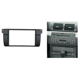 2 Din Radio Fascia Fit for BMW E46 Stereo Panel Dash Trim Kit Installation Frame