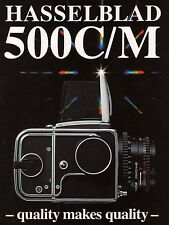 1990a HASSELBLAD 500C/M CAMERA FACTORY BROCHURE -from 1990s-HASSELBLAD 500 CM