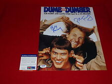 PETER and BOBBY FARRELLY dumb and dumber signed 11x14 PSA/DNA