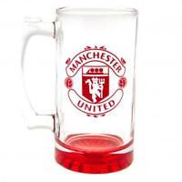 MANCHESTER UNITED FC Stein Glass Tankard Birthday Christmas Man Utd Gift