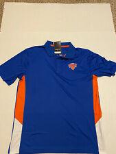NWT Fanatics New York  Knicks Polo Shirt Men's SIze: L Large Blue