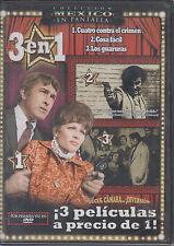 SEALED - Cuatro Contra El Crimen DVD NEW 3 En 1 SHIPS NOW !