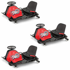 Razor Crazy Cart Electric 360 Spinning Drifting Kids Ride On Go Cart (3 Pack)