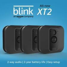 Blink Xt2 3 Camera System Outdoor/Indoor Wire-Free Surveillance System - Black