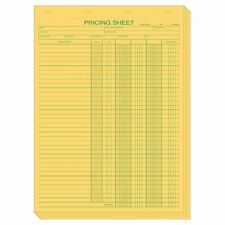 Yellow Padded Pricing Sheets Size: 8 1/2 x 11""