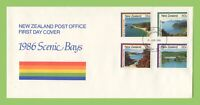New Zealand 1986 Scenic Bays set First Day Cover