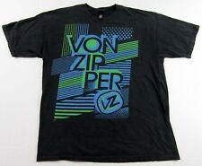 VonZipper Popular Lifestyle Sunglasses Graphic Logo Black SS T Shirt Size XL