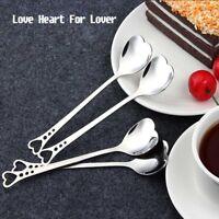 Stainless Steel Mini  Lovely Heart Shape Love Coffee Spoon Teaspoon Durable
