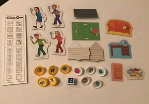 Clue Jr Junior Board Game Replacement Parts Pieces Choice Cardboard Movers