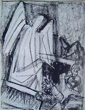 Otto Dix - Engel am Grabe - Original Lithographie