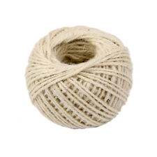 50M Wrap Gift Jute Rope Ribbon Twine Rope Cord Tie String Ball White