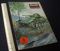 Maly Modelarz Poland Vintage Cut-Out Card Kit 1980s Light Tank T-70