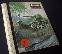 Maly Modelarz Poland Vintage Cut-Out Card Kit 1980s Light Tank T-70