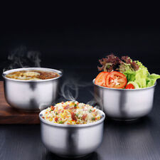 BE_ Round Stainless steel bowl Eco-Friendly Mixing Bowl Double Rice Soup Bowls C