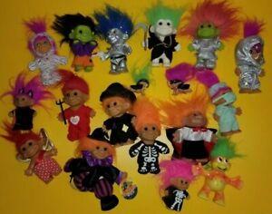 Russ dam Troll Dolls mixed lot 18  Frankenstein reaper mummy alien spaceman rare