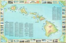 1982 Wright Surfing Map of the Hawaiian Islands