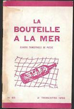 La BOUTEILLE à la MER Cahiers de CASSAN DUMAY FOURRAS Dessin Paul-Marie FONTAINE