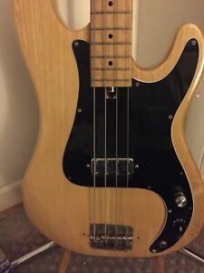 70's Precision  Bass by MEMPHIS Japanese  (Law Suit ) Oak Natural Vintage