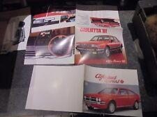 Anciens Dépliants Catalogue Alfa Roméo Giulietta'81 & Alfasud Sprint