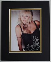 Samantha Fox Signed Autograph 10x8 photo display Page 3 Model AFTAL & COA