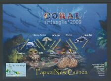 2009 PAPUA NEW GUINEA THE CORAL TRIANGLE MINISHEET FINE MINT MNH