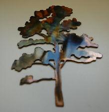 """Oak Tree Metal Wall Art  20"""" tall copper/bronze plated"""