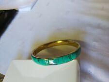 Zambian Malachite Vintage Art Deco Style Bangle Bracelet 2.5 inch diameter ❤❤