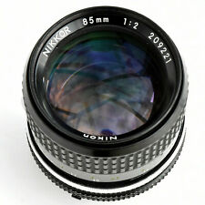 Nikon Nikkor 85mm f/2 AI Supr shp Manual. Focus Lens. Exc+++. See test pics