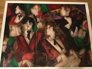 """Linda Le Kinff, """"Grand Orchestra"""": Signed  Serigraph 27x34"""""""