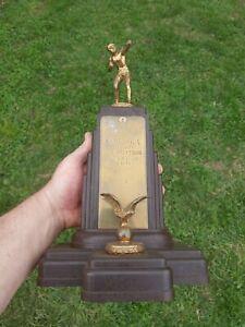 Vintage 1946 Jimmie Shevlin Seraph Boys Club Boxing Trophy Dodge Inc Bakelite