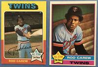 1975 Topps #600 AND 1976 Topps #400 ROD CAREW (Twins) + Bonus 1977 Card