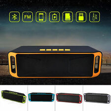 Wireless Bluetooth Speaker USB Flash FM Radio Stereo For Sumsung Iphone Orange