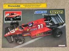 Original 1983 F1 POSTER - Patrick Tambay - Ferrari 126 C3 & Fiat Strada 105TC