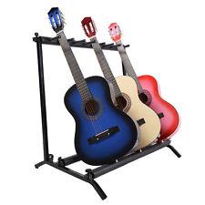 Gitarrenständer Multistand Mehrfachständer Gitarrenzubehör 7-Fach schwarz