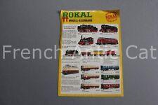E636 plaquette publicitaire train ROKAL TT modell eisenbahn HO 2 pages allemand