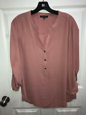 Adrianna Papell Size Large 3/4 Sleeve Blouse Popover Top Blouse Size Large