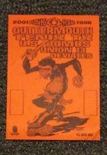 Epitaph punk o ramma tour backstage pass Guttermouth U.S. Bombs,Deviates.union13