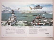 12/73 PUB KAMAN SH-2F LAMPS SEASPRITE US NAVY SAR ANTI SUBMARINE GERMAN AD
