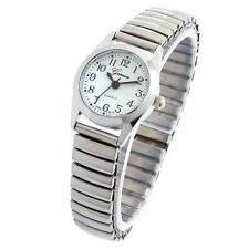 Geneva Silver Small Size Stretch Band Women's Watch