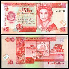 BELIZE 5 DOLLARS (P61b) 2002 QEII UNC