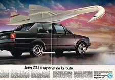 PUBLICITE ADVERTISING 035  1986  VOLKSWAGEN  JETTA GT   ( 2 pages)