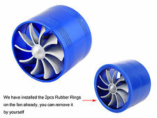 Universal TURBO F1-Z Air Intake Gas Fuel Saver SINGLE Fan Turbine Turbocharger
